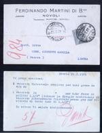 CARTOLINA COMMERCIALE - NOVOLI - LECCE - 1929 - MARTINI - Negozi