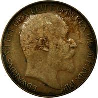 Monnaie, Grande-Bretagne, Edward VII, 1/2 Penny, 1910, TB, Bronze, KM:793.2 - 1902-1971 : Monnaies Post-Victoriennes