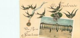Cpa -      De Toulouse Un Bon Souvenir    , Hirondelles , Violettes            D35 - Toulouse
