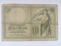 10 Mark Banknote Aus Deutschland Von 1906 (schön) - [ 2] 1871-1918 : Duitse Rijk