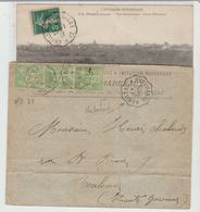 "Convoyeur: "" AURILLAC A EYGURANDE ""  Type II & III / 2 LSC De 1900 &  1912 B/TB - Marcophilie (Lettres)"
