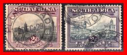 SOUTH AFRICA 2 SELLOS AÑO 1927-28 - Oficiales