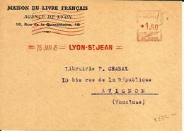 EMA Secap SC 0356  Muette  1945 Lyon A77/11 - Affrancature Meccaniche Rosse (EMA)