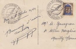 POSTCARD. GRAND PRIX DE L'ORANGE 1949 ORAN - Stamps