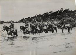 1952 - ALLEMAGNE DE L'EST - PATROUILLE A CHEVAL - Guerra, Militari