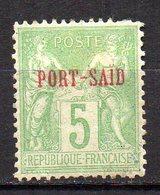 Col11   Port Said  N° 5 Nsous B  Neuf X MH Cote 11,00 Euros - Neufs