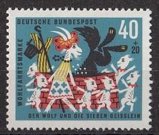 Germania 1963 Sc. B395 Fairy Tales Favole Grimm - MNH The Wolf And The Seven Kids - Fiabe, Racconti Popolari & Leggende