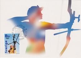 ARCHERY BOGENSCHIESSEN Tir à L'arc SWEDEN 2000 FDC MI 2183 OLYMPIC GAMES JEUX OLYMPIQUES OLYMPISCHE SPIELE - Archery