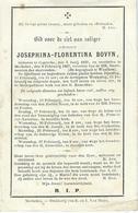 DP JOSEPHINA BOVYN - CAPRYCKE 1832-1867 - Images Religieuses