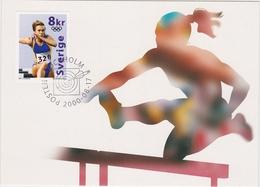 OLYMPIC GAMES ATHLETICS ATHLÉTISME 100 Meter BARRIER SWEDEN SUEDE SCHWEDEN 2000 MI 2182 MC ENGQVIST Narozhilenko - Athletics