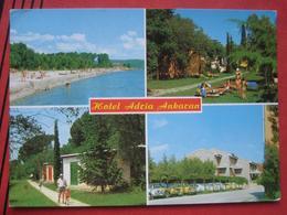 "Ankaran / Ancarano - Mehrbildkarte ""Hotel Adria Ankaran"" / Falsches Stempeldatum - Slovénie"