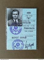 YUGOSLAVIA Senior Officer Of Yugoslav People's Army ID For Military Transport B Category - Season Ticket