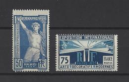 FRANCE  YT  N° 186 ET 215  Neuf **  1924-25 - France