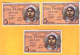 5 Francs Du 02 10 1944 - Pick 94b   NEUF - UNC - Algérie