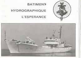 Brest Batiment Hydrographique L ESPERANCE ( Carte De Voeux Double) - Brest