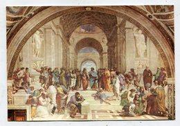 CHRISTIANITY  - AK 342634 Vaticano - Stanza Di Raffaello - Scuola Di Atene - Quadri, Vetrate E Statue