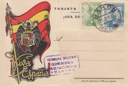 TARJETA SPAIN. 1940. CENSOR MENORCA - Briefmarken