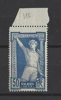 FRANCE  YT  N° 186   Neuf **  1924 - France