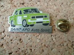 PIN'S   SAINT APO  AUTO  SPORT  VOITURE  RALLYE - Rallye