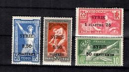Syrie YT N° 122/125 Neufs *. B/TB. A Saisir! - Syria (1919-1945)