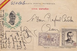 TARJETA SPAIN. 1937. VIVA ESPANA. MELILLA - Sin Clasificación