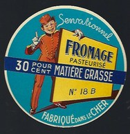 étiquette Fromage Sensationnel Fabriqué Dans Le Cher 18B - Fromage