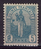 French Guinea, Fulah Woman, 5c., Postage Due, 1905, MH VF - Unused Stamps