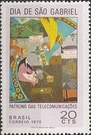 BRAZIL - DAY OF SAINT GABRIEL, PATRON SAINT OF TELECOMMUNICATIONS 1970 - MNH - Telecom