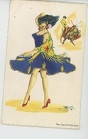 FEMMES - FRAU - LADY - Jolie Carte Fantaisie Brodée Femme Espagnole Et Corrida - Tauromachie - Embroidered