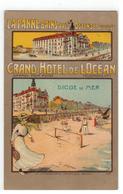 LA PANNE-BAINS-PRES OSTENDE BELGIQUE   GRAND HOTEL DE L'OCEAN DIGUE DE MER Litho - De Panne
