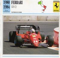 Ferrari 126 C3 F1 Grand Prix (1983) - Voiture De Course - Rene Arnoux -  Fiche Technique/Carte De Collection - Grand Prix / F1
