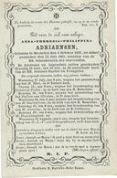 DP ANNA ADRIAENSEN - MECHELEN 1819 - 1861 - Images Religieuses