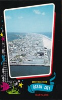 Maryland Greetings From Ocean City Aerial View Looking North Fro