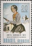 BRAZIL - BIRTH SESQUICENTENARY OF ANITA GARIBALDI (1821-1849), BRAZILIAN HEROIN 1971 - MNH - Brazil