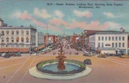 Alabama Montgomery Dexter Avenue Looking East Curteich - Montgomery
