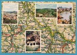 LA PETITE SUISSE LUXEMBOURGEOISE Avec ECHTERNACH VIANDEN DIEKIRCH Carte Géographique Multivues - Maps