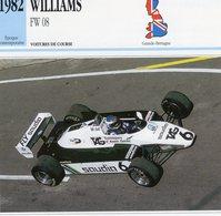 Williams FW08  F1 Grand Prix (1982) - Voiture De Course - Keke Rosberg -  Fiche Technique/Carte De Collection - Grand Prix / F1