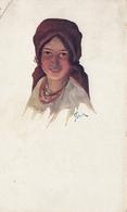 Ukraine Galizische Volkstypen Folklore Costume Art Pstrak Feldpost 1917 - Ukraine