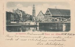 Libau Liepaja - Die Hafenbrucke 1899 - Lettonie