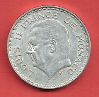 5 Francs , MONACO , Louis II , 1945 , Aluminium , N° Gadoury: 135 - 1922-1949 Louis II