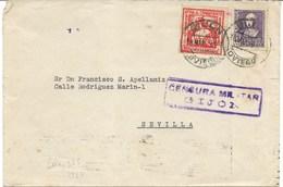 España.Carta Circulada Desde Gijón A Sevilla Con Sello Del Estado Español Y Local - 1931-Hoy: 2ª República - ... Juan Carlos I