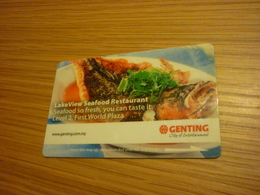 Malaysia Genting Hotel & Casino Room Key Card (seafood Restaurant) - Cartes D'hotel