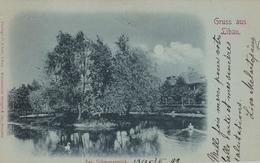 Libau Liepaja - Die Schwanenteich 1899 - Lettonie