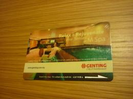 Malaysia Genting Hotel & Casino Room Key Card (spa Version A) - Hotel Keycards