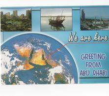 DUBAI - GREETING FROM ABU DHABI - CARTE COULEUR  - VOYAGEE EN 2002 - Dubai