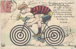 CPA Fantaisies Cycliste ( Système Mouvement De Rotation … ) - Cartoline Con Meccanismi