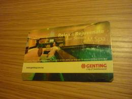 Malaysia Genting Hotel & Casino Room Key Card (spa Version B) - Hotel Keycards