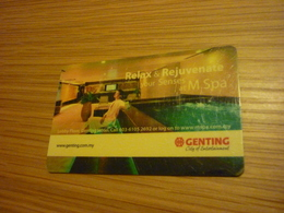 Malaysia Genting Hotel & Casino Room Key Card (spa Version B) - Cartes D'hotel