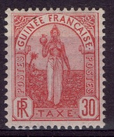 French Guinea, Fulah Woman, 30c., Postage Due, 1905, MH VF - Unused Stamps