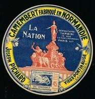 étiquette Fromage Camembert Normandie La Nation Joseph Pichard Vieux Pont En Auge - Fromage